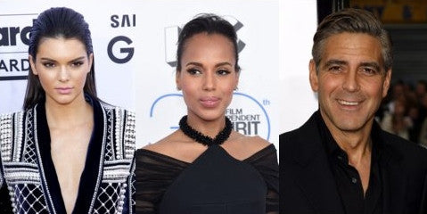 Kendall Jenner, Kerry Washington and George Clooney chin