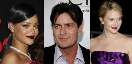 Rihanna, Charlie Sheen and Drew Barrymore chin