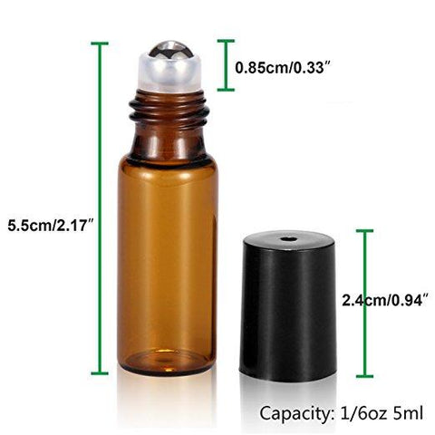 5ml bottles metal roll ons