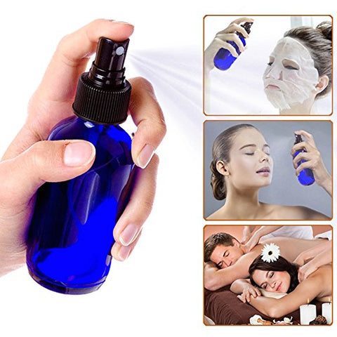 glass spray bottles cobalt blue