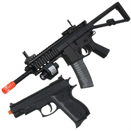 Spring P1188 Rifle and Pistol Combo Pack Airsoft Guns