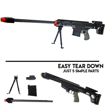 DARK OPS AIRSOFT SNIPER RIFLE AND SPRING RIFLE COMBO PACK W/ BBS & 20X TARGETS