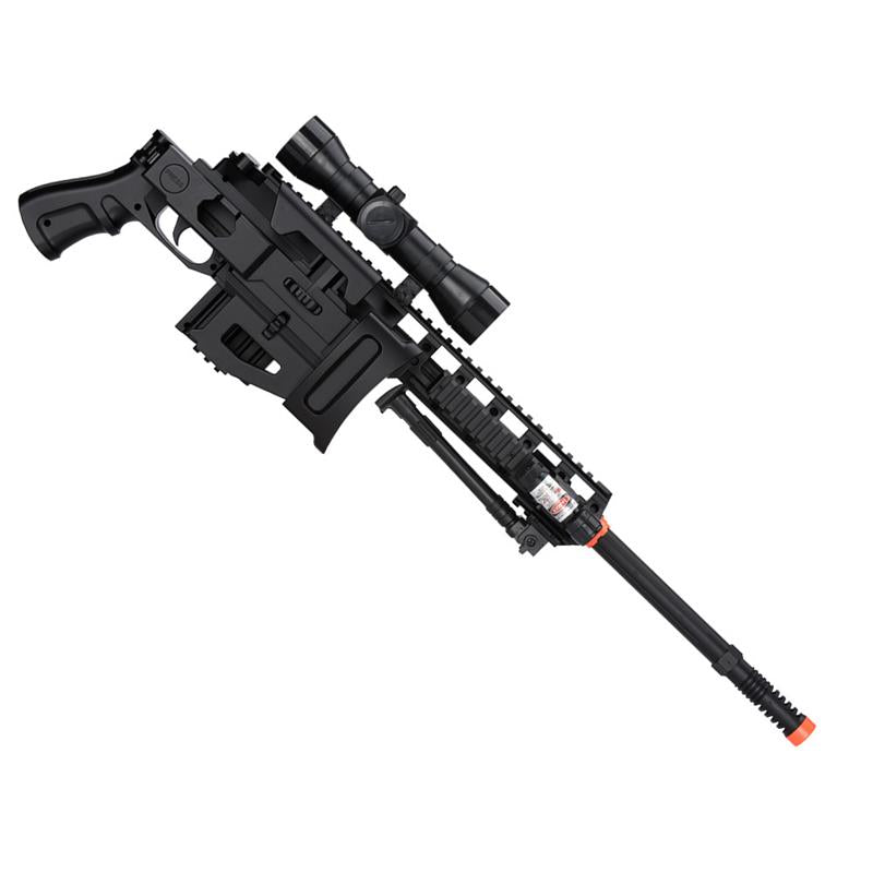 Spring Airsoft Sniper Rifle Gun W/ Scope Laser Light Bipod 350 FPS
