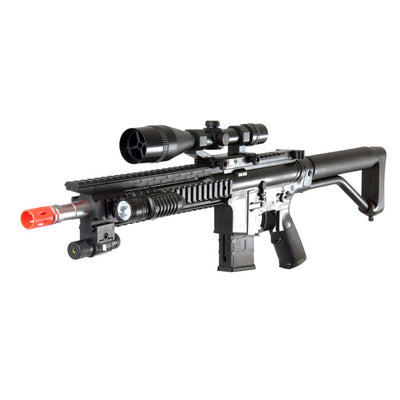 Spring P1136 Rifle Airsoft Pistol Combo Pack RIS Laser, Light, and Scope