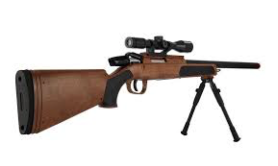 CYMA Airsot MK51 Bolt Action Sniper Rifle W/ Scope & Bi-Pod