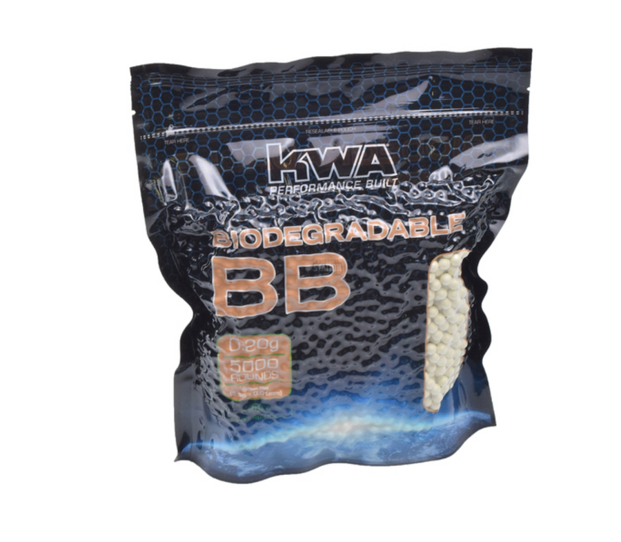 KWA 0.20G BIODEGRADABLE BBS, 5000 CT. BAG