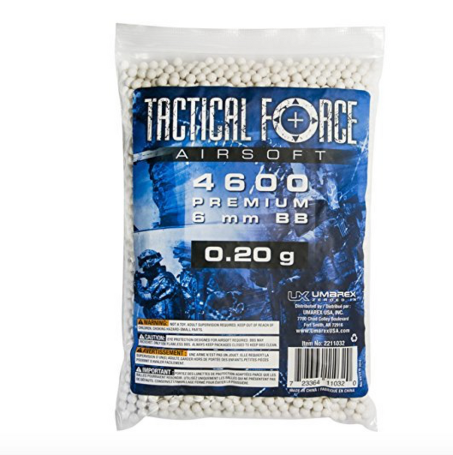 TACTICAL FORCE 0.20G 4600 CT BAG, WHITE