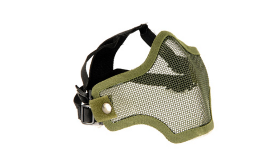 2G STEEL MESH HALF FACE MASK FOR AIRSOFT, GREEN