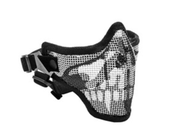 2G STEEL MESH HALF FACE MASK FOR AIRSOFT, SKULL