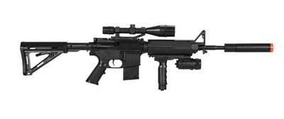 TACTICAL M4 SPRING-POWERED COMBAT RIFLE & SIDEARM KI