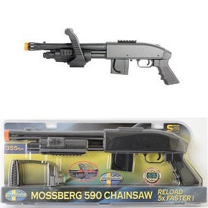 Mossberg M590 Chainsaw Spring Airsoft Shotgun 355 FPS