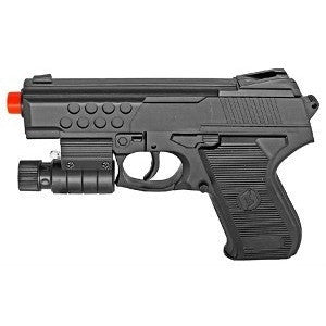 Spring Airsoft Hand Gun With Laser and Blue LED Flashlight