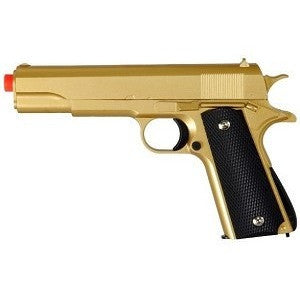M1911 Replica Full Metal Two Tone Gold & Black Airsoft Spring Pistol