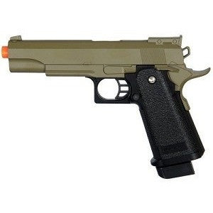 Full Metal Body Airsoft Spring Pistol Hi-Capa 1911 OD Green Two Tone