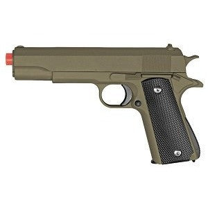 Full Metal 1911 OD Green Black Grips AIRSOFT Gun Pistol