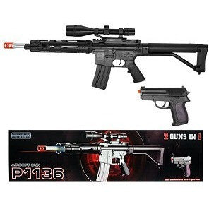 P1136 FPS-280 Rifle and FPS-120 Pistol Spring Airsoft Guns
