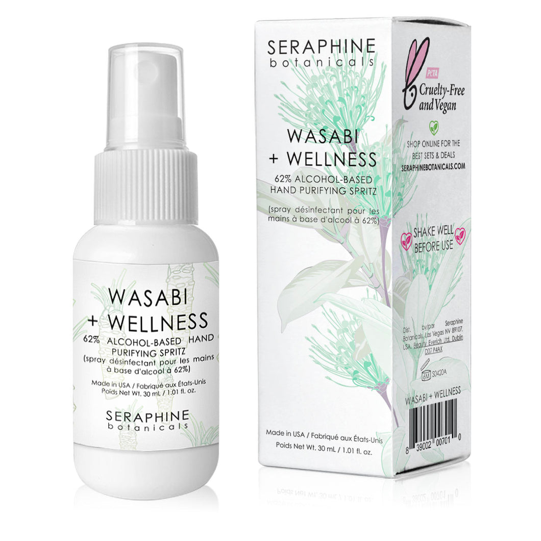 Wasabi + Wellness - 62% Alcohol-Based Hand Purifying Spritz