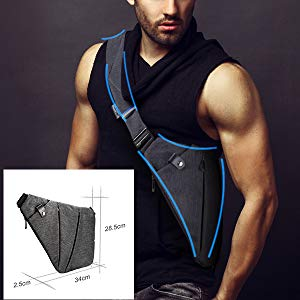 crossbodies for men; chest bag; crossbody backpack; small sling bag; mens sling bag; magic gun bag;