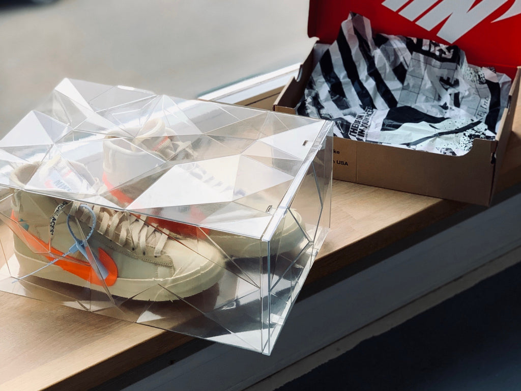 rckz sneakerbox 3D print prototype with nike off white
