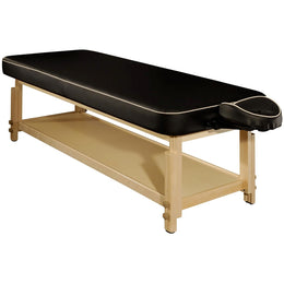 Harvey Comfort Stationary Massage Table - MT Massage Tables Black