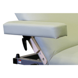 Signature Spa Series Hands Free Lift Back Electric Table - Custom Craftworks swivel armrests