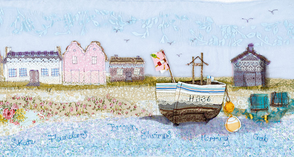 Fishing Boat, Aldeburgh, Suffolk, Embroidery