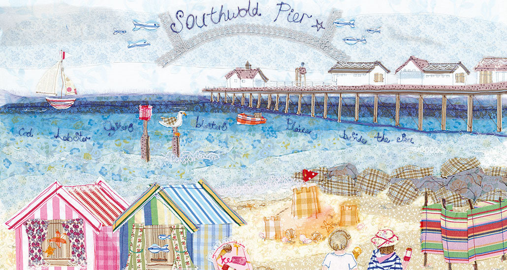 Southwold Pier, Suffolk, Embroidery