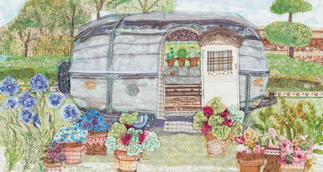 Garaden Airstream, Chelsea Flower Show, Embroidery