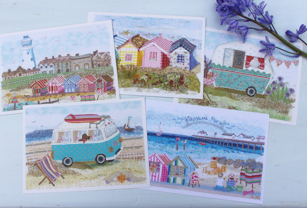 Set of 5 Seaside Postcards