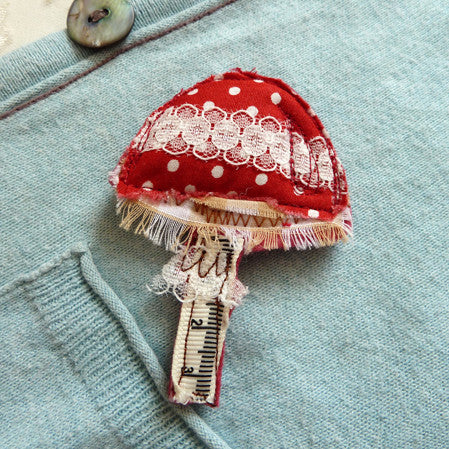 Toadstool brooch