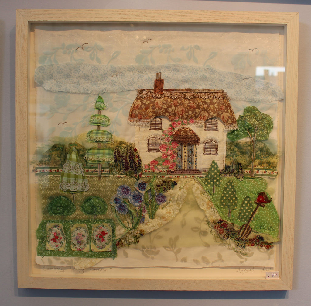 Country Cottage Garden - framed