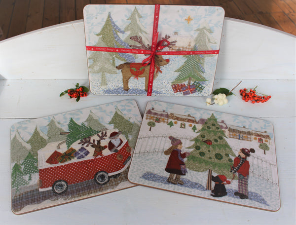Christmas Coaster Set x 6
