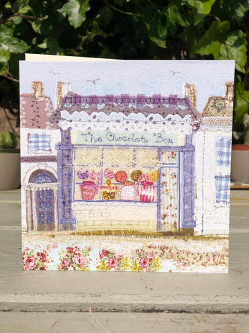 Chocolate Box at Sheringham Greetings card