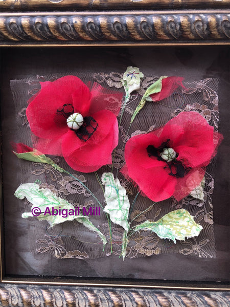 Baroque Poppy embroidery