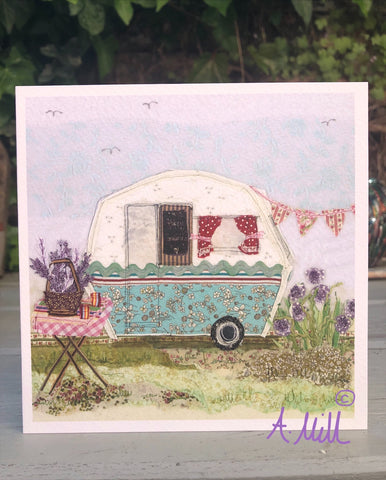 Caravan Greetings card