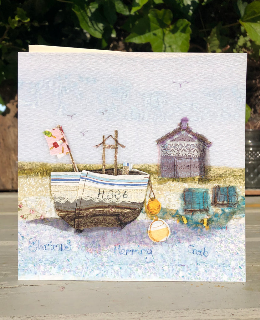 Fishing Boat Aldeburgh Greetings card