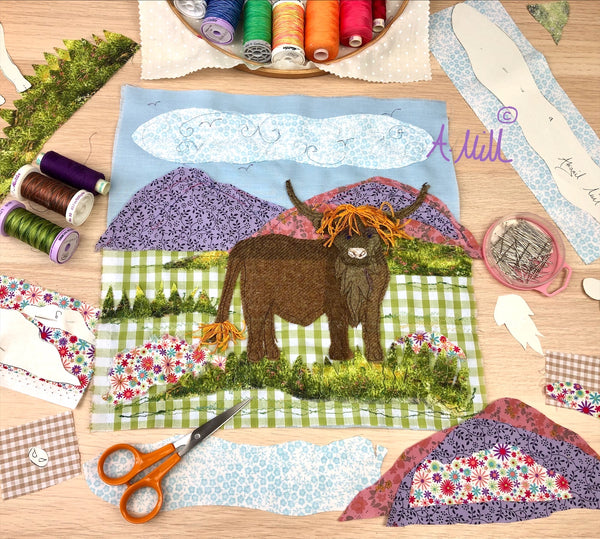 Highland Cow Appliqué kit