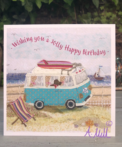 Birthday Campervan Greetings card