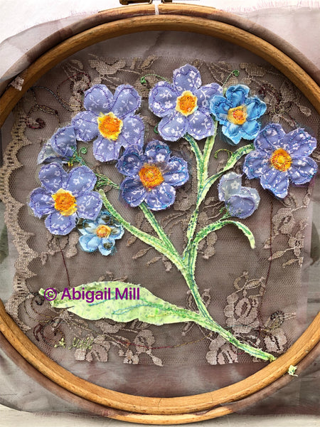 Forget- me- Knot embroidery hoop