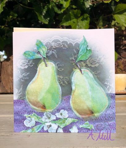 Pears Greetings card
