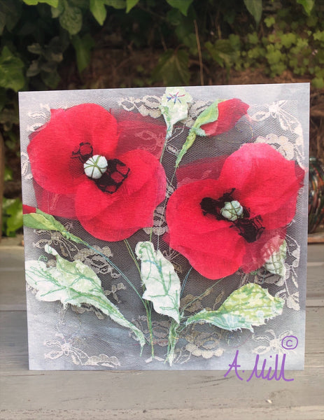 Floral Greetings Card x6 Pack