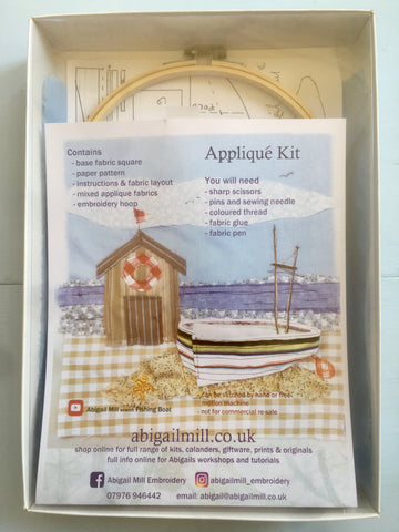 Fishing Boat Appliqué kit