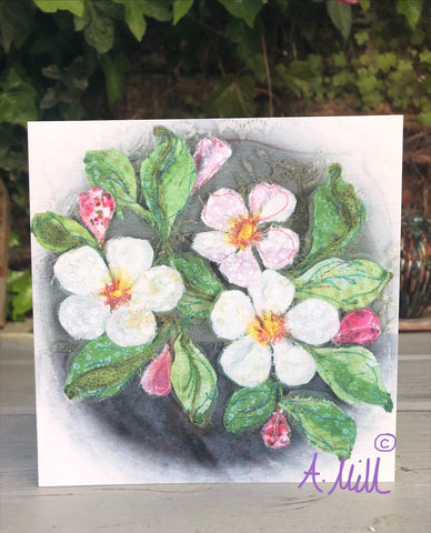 Apple Blossom Greetings card