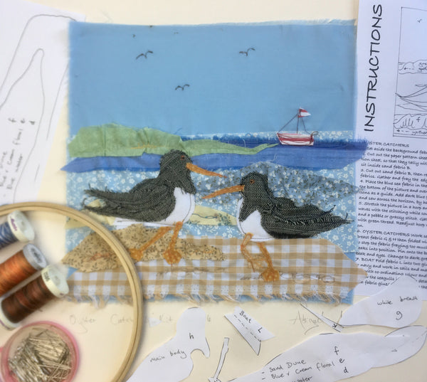 Oyster Catchers Appliqué kit