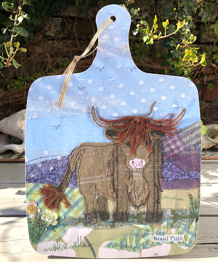 Highland Cow Large Chopping board