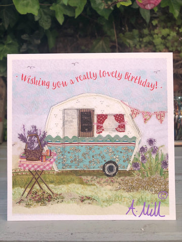 Birthday Caravan Greetings card
