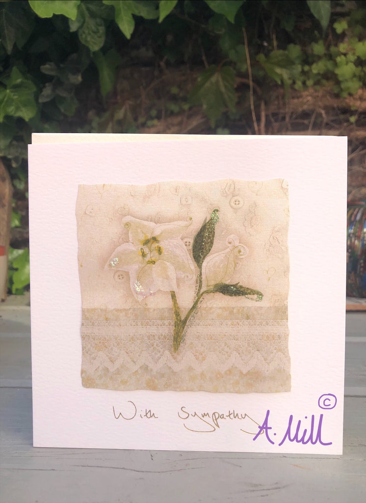 Sympathy Handmade Greetings card