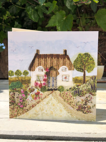 Country Cottage Greetings card