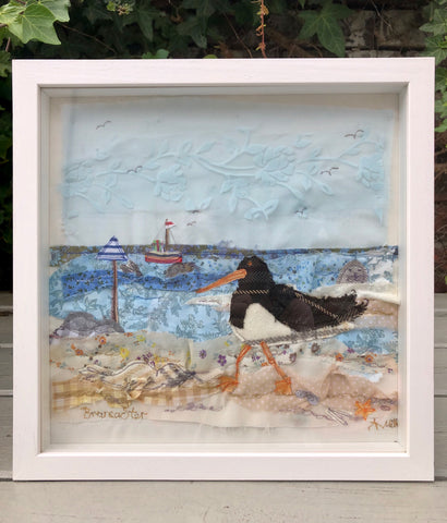 Oyster Catchers at Brancaster - framed