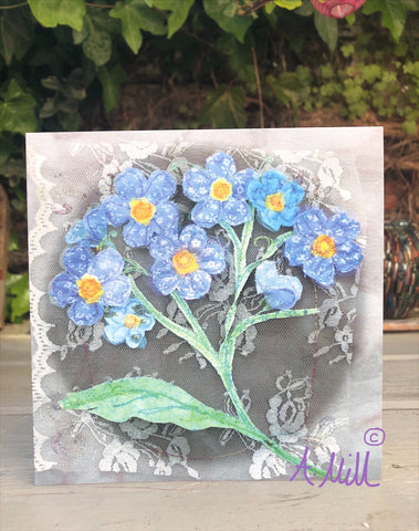 Forget- me- knot Greetings card